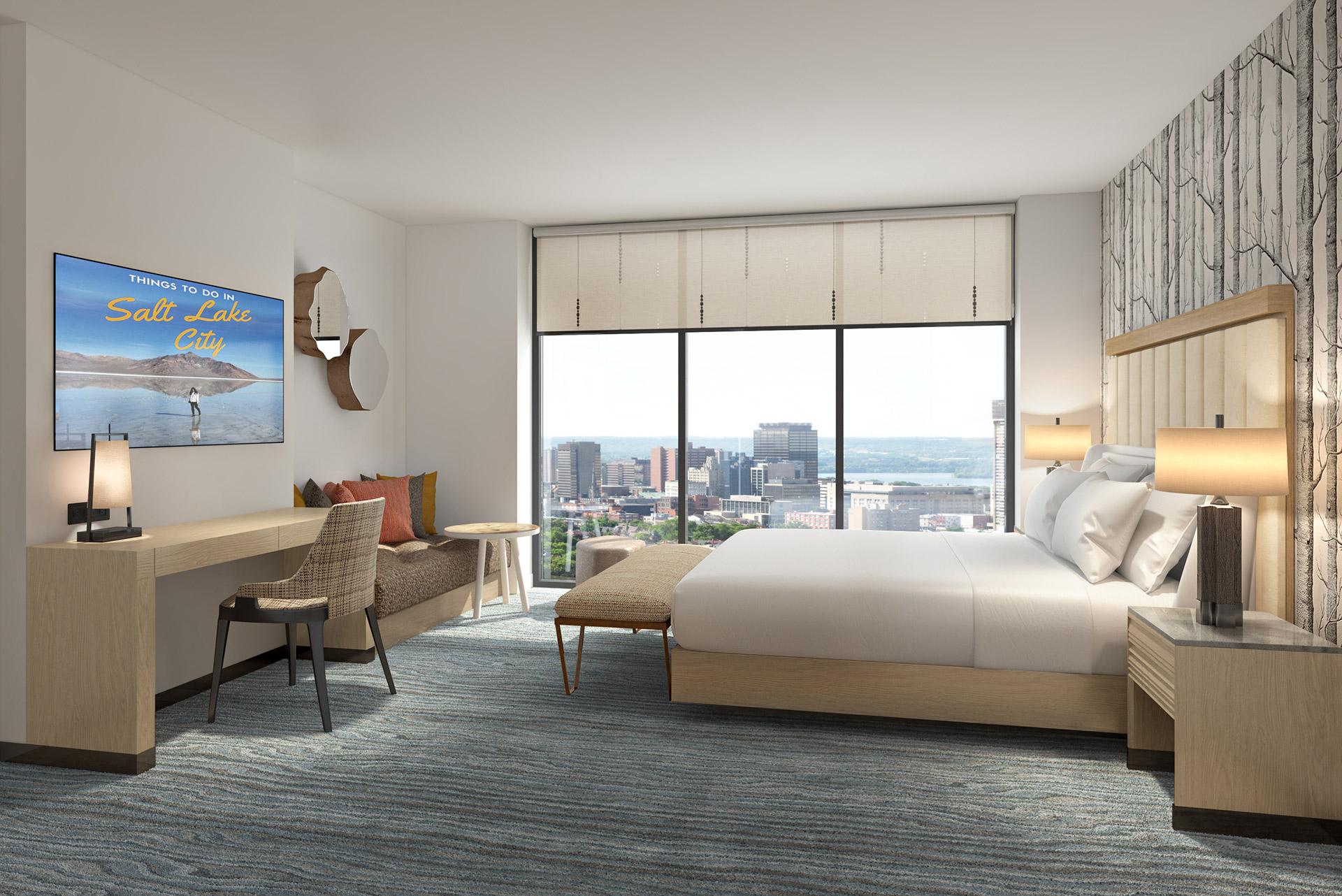 Element Salt Lake City guest room rendering