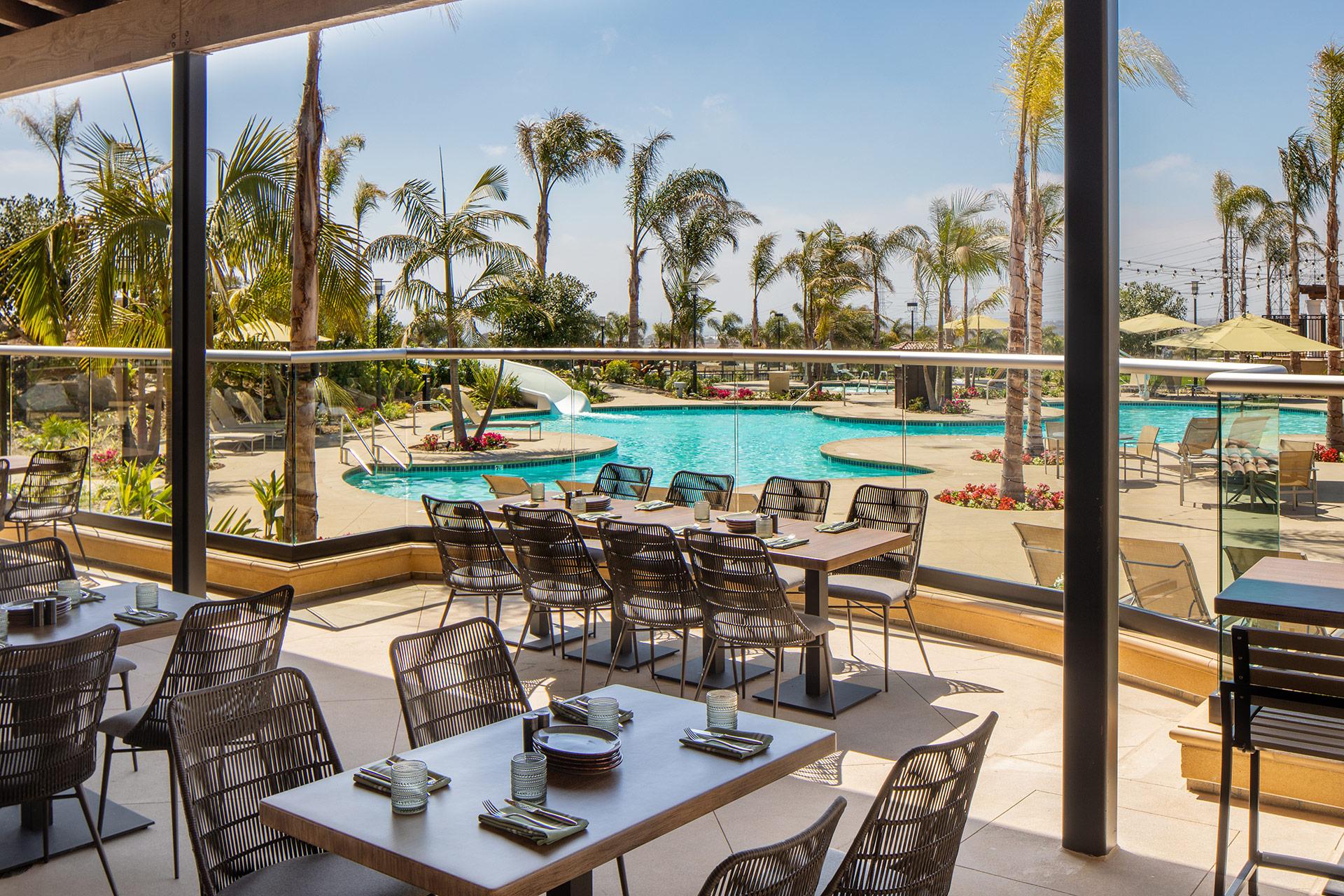 7 Mile Kitchen Patio overlooking pool