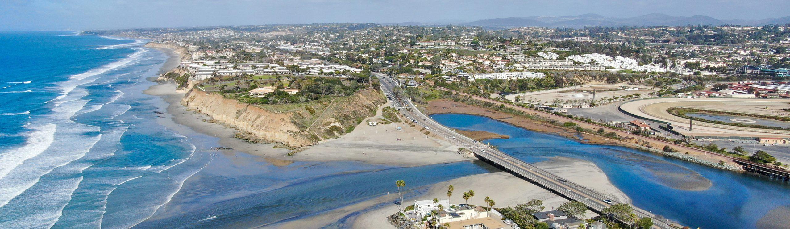 Aerial view of Del Mar, California