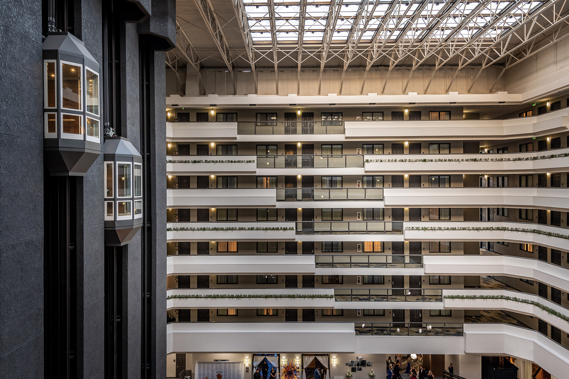 Embassy Suites by Hilton Los Angeles International Airport North Atrium and Elevators