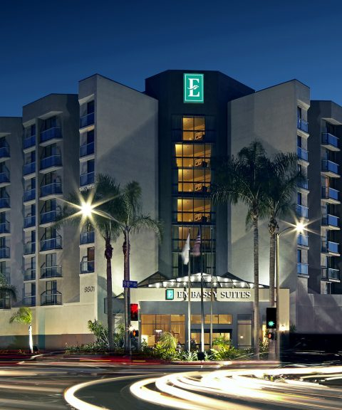 Embassy Suites by Hilton Los Angeles International Airport North Exterior at night