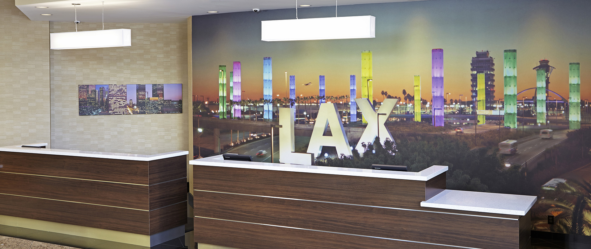 Embassy Suites by Hilton Los Angeles International Airport North Front Desk with Mural
