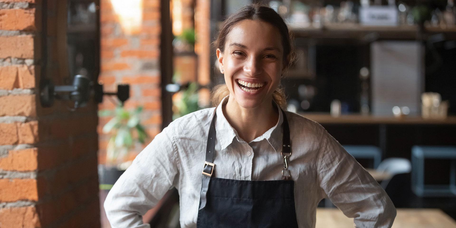 Smiling Female Barista