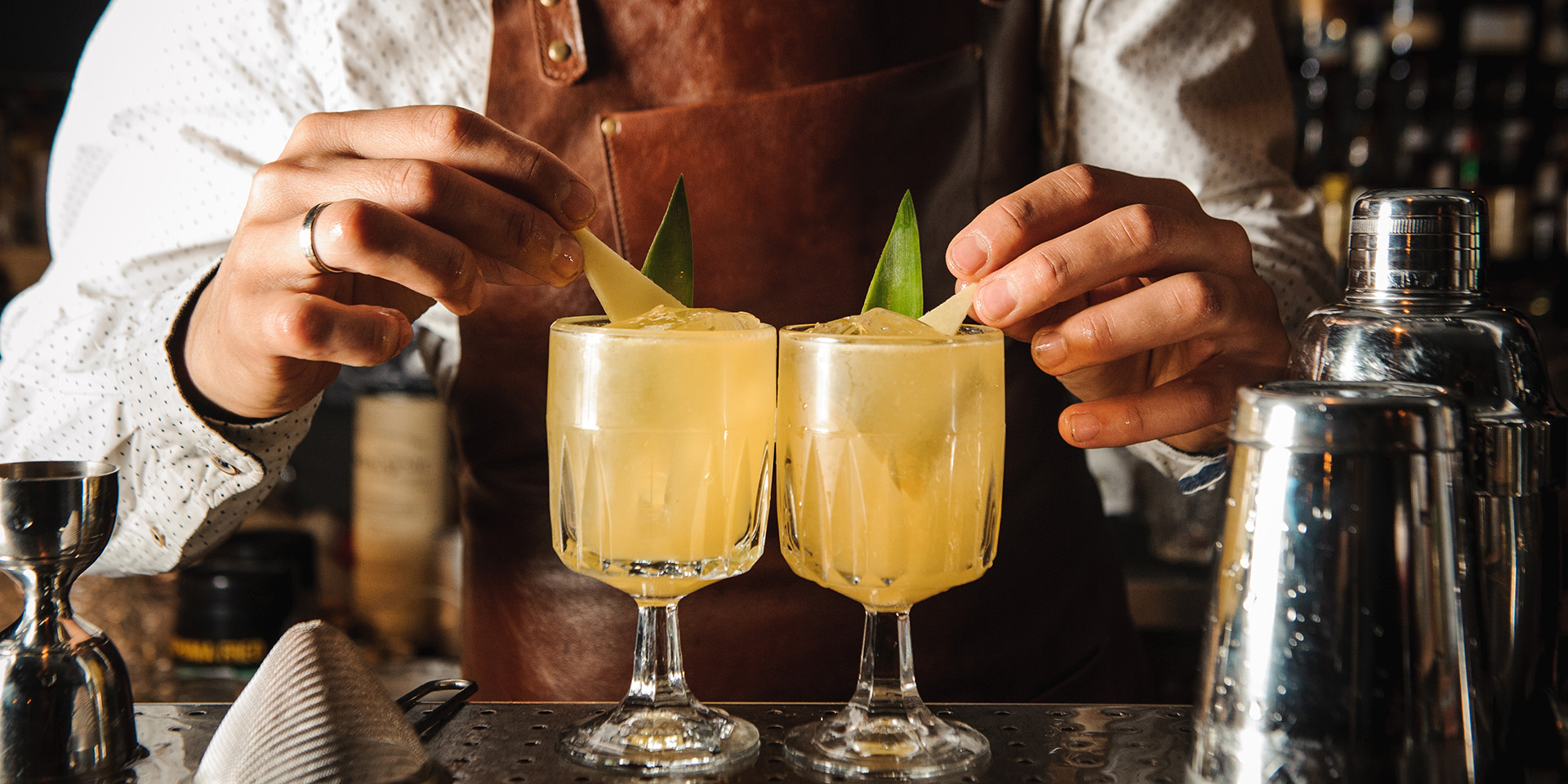 Beverage bartender tropical cocktail ring