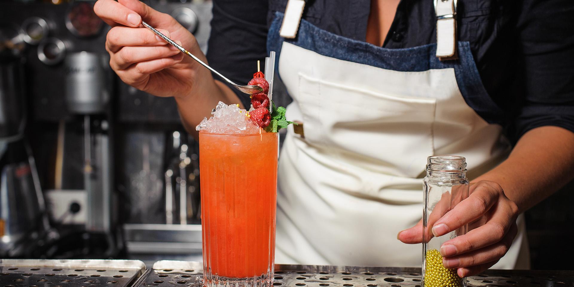 Beverage female bartender