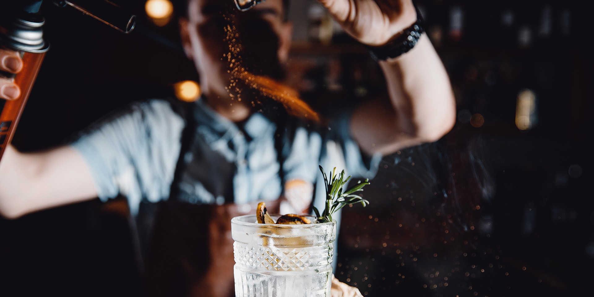 Beverage cocktail herbs and sparks