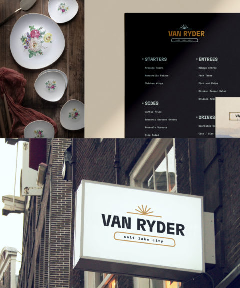 Van Ryder Collage Small Square